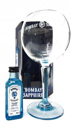 Gin - Bombay Sapphire Miniature & Glass Gift Set Whisky