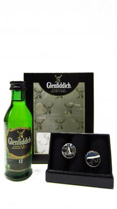 Glenfiddich - Miniature & Cufflinks Gift Set (Hard To Find Whisky Edition) Whisky