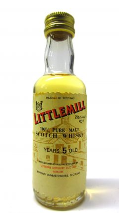 Littlemill (silent) - 100% Pure Malt Scotch Miniature 5 year old Whisky