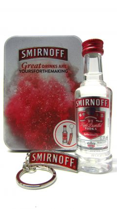 Vodka - Smirnoff Miniaure & Keyring Gift Set Whisky
