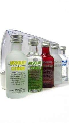 Vodka - Absolut 5 x Miniatures Gift Set Whisky