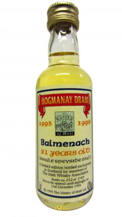 Balmenach - Hogmanay Dram Miniature - 1974 21 year old Whisky