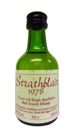 Glenfiddich - Stratrhblair Miniature - 1978 16 year old Whisky