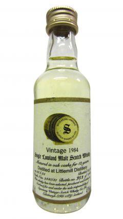 Littlemill (silent) - Signatory Vintage Miniature - 1984 12 year old Whisky