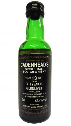 Pittyvaich (silent) - Cadenhead's Miniature - 1977 13 year old Whisky