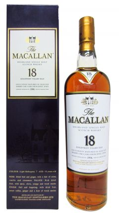 Macallan -  Light Mahogany Sherry Oak - 1996 18 year old Whisky