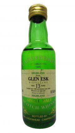 Glenesk (silent) - Cadenhead's Miniature - 1982 13 year old Whisky