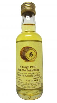 Aultmore - Signatory Vintage Miniature - 1980 14 year old Whisky