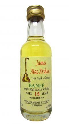 Banff (silent) - James MacArthur Fine Malt Miniature - 1976 15 year old Whisky