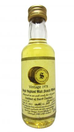Banff (silent) - Signatory Vintage Miniature - 1978 18 year old Whisky