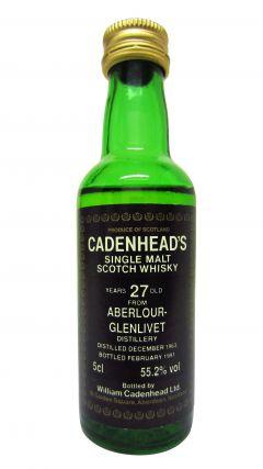 Aberlour - Cadenhead's Miniature - 1963 27 year old Whisky