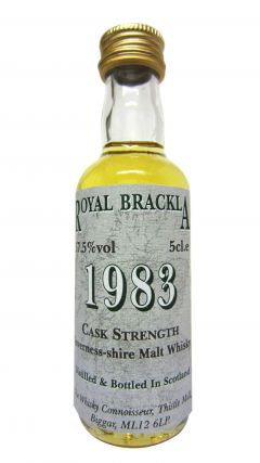 Royal Brackla - The Whisky Connoisseur Miniature - 1983 Whisky