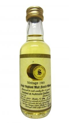 Aultmore - Signatory Vintage Miniature - 1985 11 year old Whisky