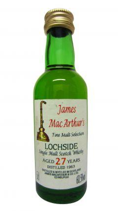 Lochside (silent) - James MacArthur Fine Malt Miniature - 1963 27 year old Whisky