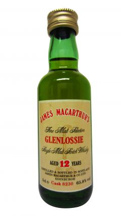 Glenlossie - James MacArthur Fine Malt Miniature 12 year old Whisky