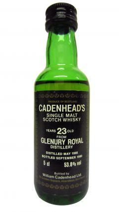Glenury Royal (silent) - Cadenhead's Miniature - 1966 23 year old Whisky