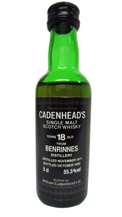 Benrinnes - Cadenhead's Miniature - 1971 18 year old Whisky