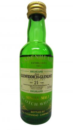 Glenfiddich - Cadenhead's Miniature - 1973 21 year old Whisky