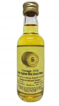 Macduff - Signatory Vintage Miniature - 1978 17 year old Whisky