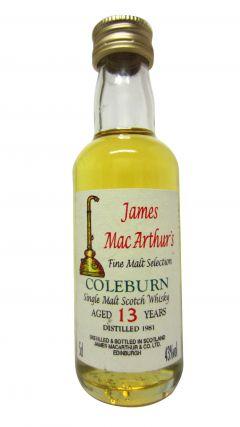 Coleburn (silent) - James MacArthur Fine Malt Miniature - 1981 13 year old Whisky