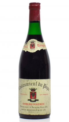 Red Wine - Chateauneuf du pape - 1969 Whisky