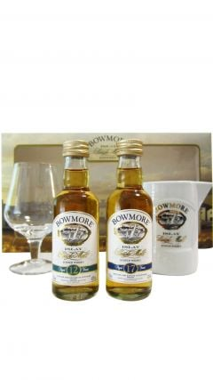 Bowmore - 2 X 5cl Miniatures & Glasses 17 year old Whisky