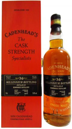 Benrinnes - Cadenhead's Millennium Bottling - 1963 36 year old Whisky