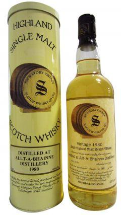 Allt-a-Bhainne - Signatory Vintage - 1980 18 year old Whisky