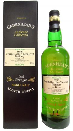 Craigellachie - Cadenhead's Authentic Collection - 1980 16 year old Whisky