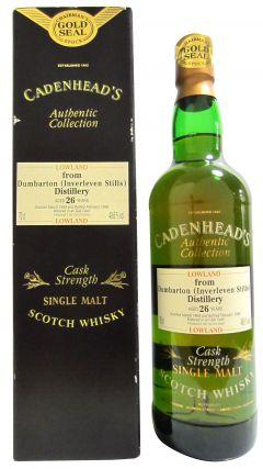 Dumbarton (silent) - Cadenhead's Chairmans Stock - 1969 26 year old Whisky