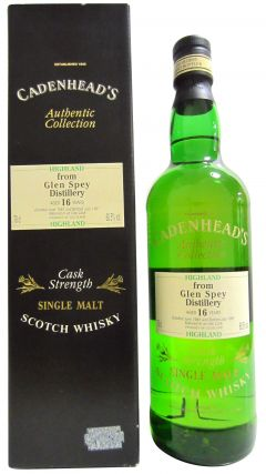 Glen Spey - Cadenhead's Authentic Collection - 1981 16 year old Whisky