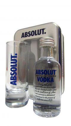 Vodka - Absolut 5cl Miniature & Glass Gift Set Whisky
