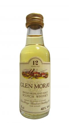 Glen Moray - Single Highland Malt Miniature 12 year old Whisky