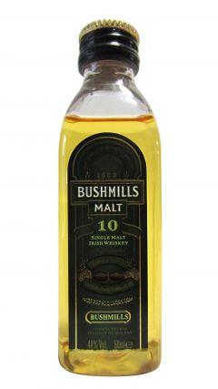 Bushmills - Single Malt Irish Miniature 10 year old Whiskey