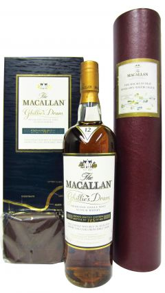 Macallan - Ghillies Dram + Original Macallan Watercolour - 1995 12 year old Whisky