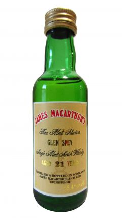 Glen Spey - James Macarthur's Miniature 21 year old Whisky