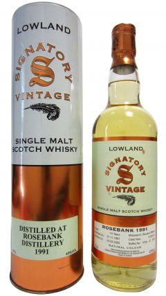 Rosebank (silent) - Signatory Vintage - 1991 13 year old Whisky