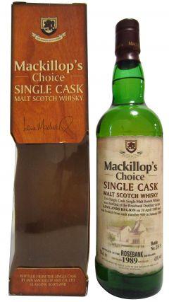 Rosebank (silent) - Mackillop's Choice - 1989 15 year old Whisky