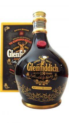 Glenfiddich - Ancient Reserve Spode Decanter - Black 18 year old Whisky