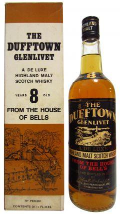 Dufftown - Glenlivet Deluxe Highland Malt 8 year old Whisky