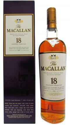 Macallan -  Light Mahogany Sherry Oak 2015 - 1997 18 year old Whisky
