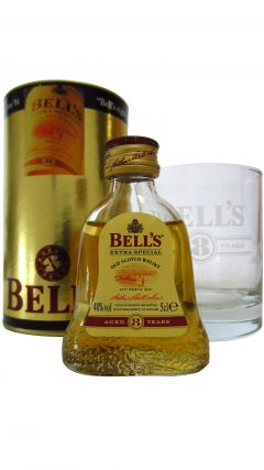 Bells - Miniature & Brand Glass Gift Set 8 year old Whisky