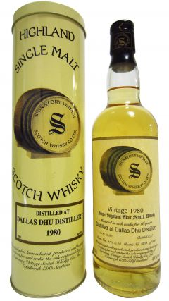 Dallas Dhu (silent) - Signatory Vintage - 1980 16 year old Whisky