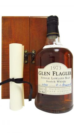 Glen Flagler (silent) - Limited Edition Cask Strength - 1973 29 year old Whisky