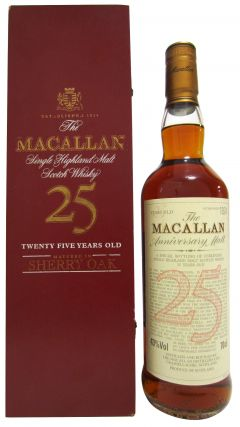 Macallan - Anniversary Malt Sherry Oak  25 year old Whisky