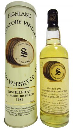 Dallas Dhu (silent) - Signatory Vintage - 1981 19 year old Whisky