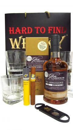Glen Garioch - Renaissance, Cigar & Glasses Gift Set 15 year old Whisky