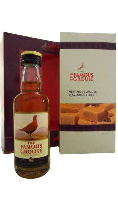 Famous Grouse - Miniature & Fudge (170g) Gift Set Whisky