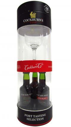 Port - Cockburns 3 x Miniature & Branded Glass Gift Set Whisky