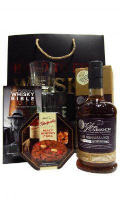 Glen Garioch - Renaissance, Cake, Book & Glasses Gift Set 15 year old Whisky